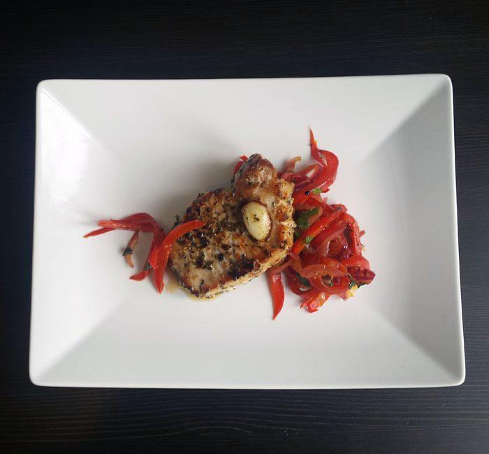 Wieprzowina z papryką w sosie słodko-kwaśnym