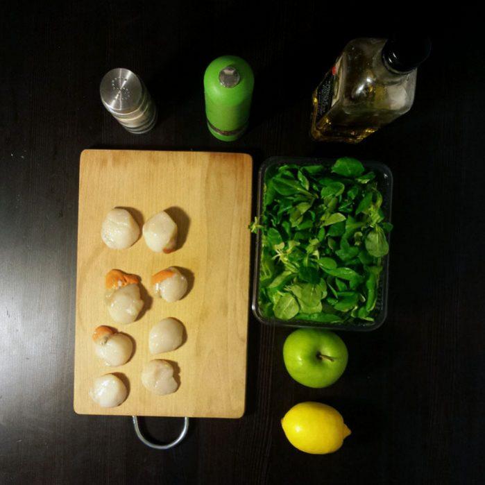 Przegrzebki z sałatką z jabłek – Gordon Ramsay